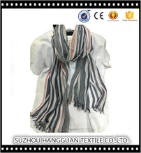 Cotton Fashion Vertical Stripes Custom Long Scarf Neckwear Personalized Infinity Shawl