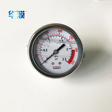 factory wholesale hydraulic oil filled pressure gauge for water treatment
