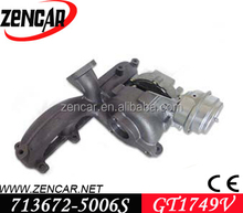 12 month warranty GT1749V(S1) turbocharger for Leon TDI S 713672-0003, 713672-0004