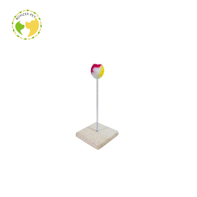 Economical Custom Design Natural Ball Spring Cat Toys,Cat Scratching Tree