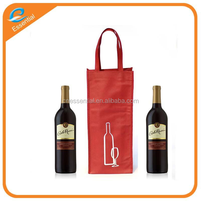 New design cheap price wenzhou recyclable non woven wine tote bag