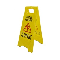 Wet Floor Free Standing Caution / Warning plastic Sign