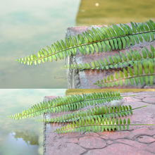 Plastic Fern Stem Wholesale Decorative Fake Boston Green Wall Silk Autumn Leaves Ireland Bush Artificial Fern Artificial Leaf