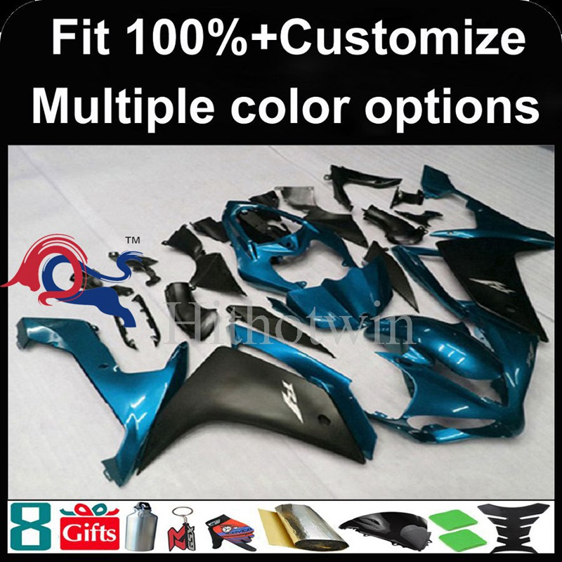 Injection mold blue black motorcycle cowl for Yamaha YZF-<strong>R1</strong> 2007-<strong>2008</strong> 07 08 YZFR1 2007 <strong>2008</strong> 07-08 ABS Plastic <strong>Fairing</strong>