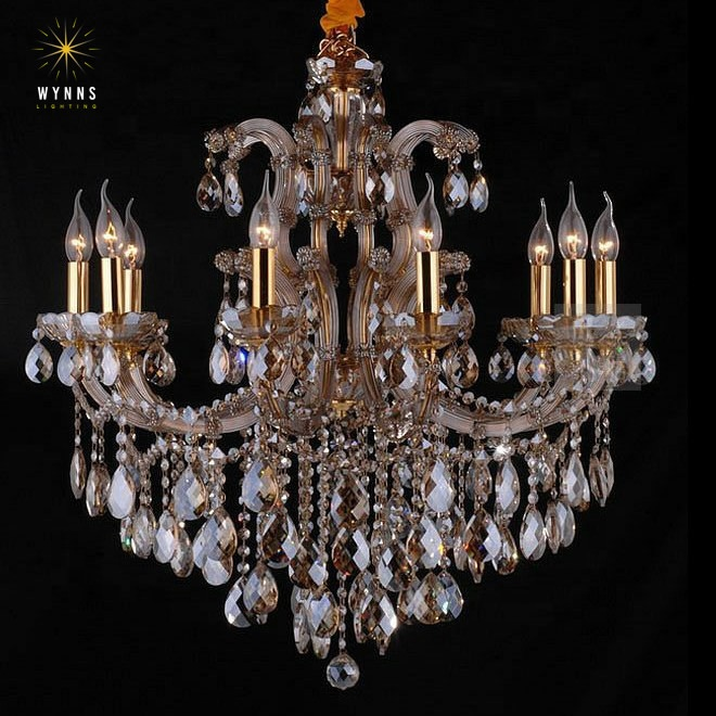 Maria theresa style LED crystal lighting fixtures chandeliers