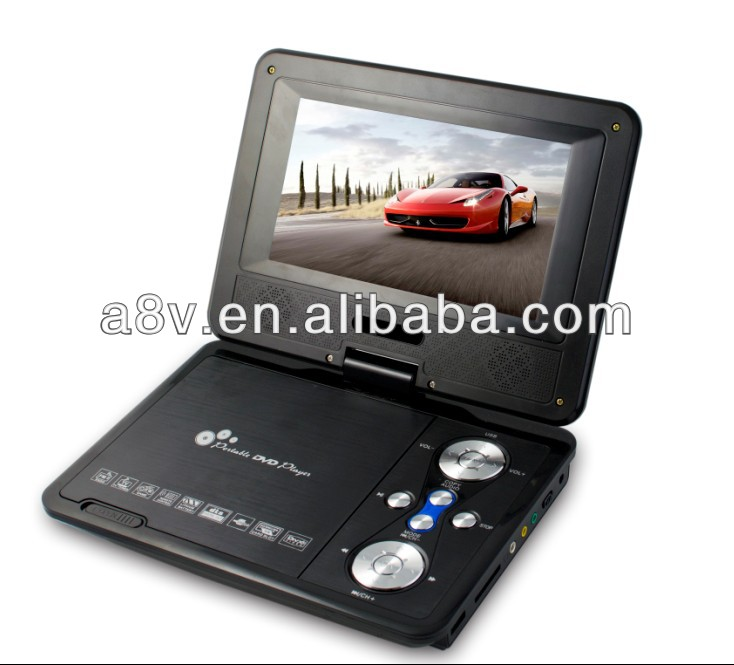 HD TV DVB-T in portable dvd player 9 inch(DA-789) with FM, USB SD EARPHONE,AV-IN/OUT,GAME,COPY FUNCTION