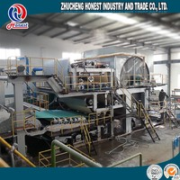 kitchen paper towel making machine with raw material waste paper or virgin pulp