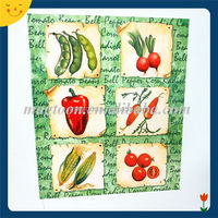 Fruit picture printed customized vegetable fridge magnet
