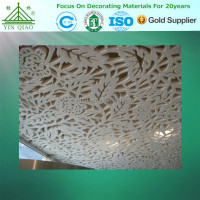 Quality Fire Rated Durable Moistureproof Plaster Ceiling Panel 3D Board