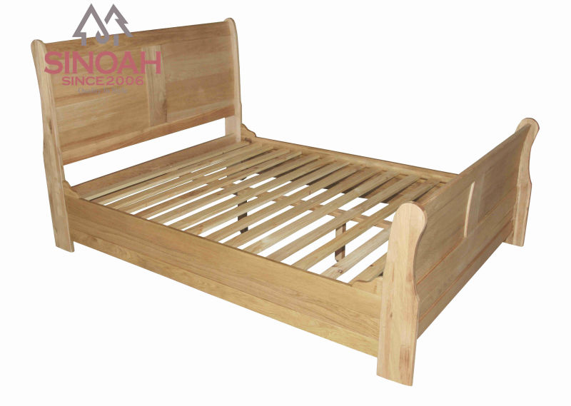 wooden bedroom furniture - sleigh bed