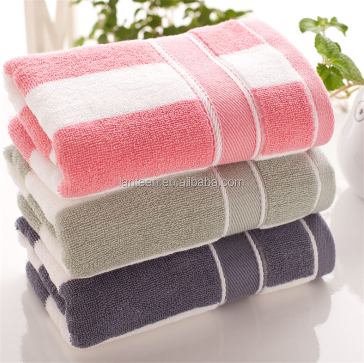 red and white, whited and grey stripes towel jacquard cotton face towel