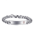 Fashion silver medical logo bracelet for souvenirs or gift