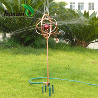 Gold supplier stainless steel watering decorative nozzle rotating mobile traveling lawn farm garden irrigation sprinkler