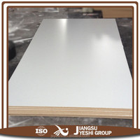 low price good quality 18mm warm white high glossmelamine mdf board to make wooden furniture