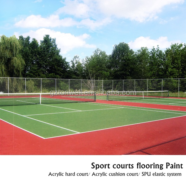 Low maintenance costs elastic Acrylic cushion system school supplier sports flooring
