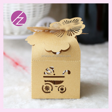 Free shipping butterflies with baby carrige strlloer design Candy girl/boy display Box Birthday Party Boxes for baby shower
