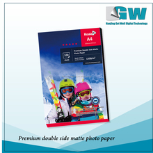 GW supply inkjet digital printing paper 100 gsm A4 size double-side glossy photo paper for image output