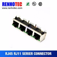 Best Price pcb 4 Port coaxial coupler rj45 socket connector