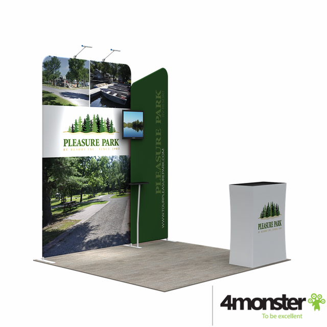 Portable and stable 10ftx10ft custom design exhibition event booth design