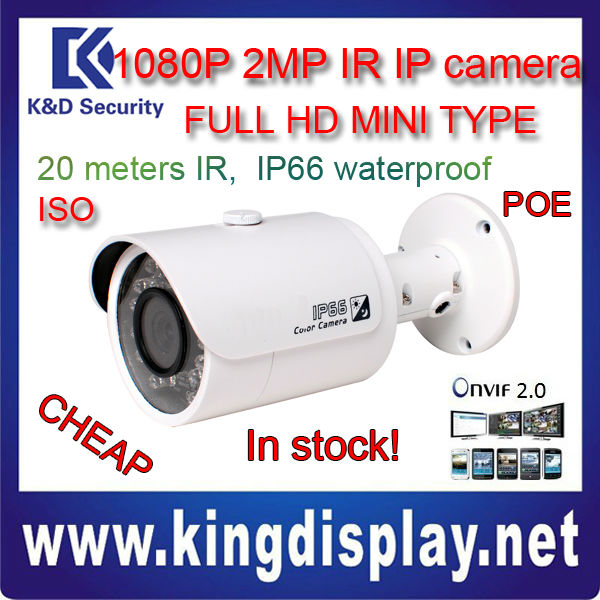 cheap DAHUA IPC-HFW3200S in stock 2 MEGA PIXEL MINI ir bullet IP camera 1080P with POE NVR Kits IP CAMERA KITS