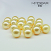 2016 spring new 13-14mm loose pearl with south sea pearl and gold color