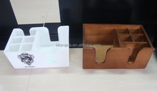 Manufacturer Durable Restaurant Wood Plastic Bar Caddy