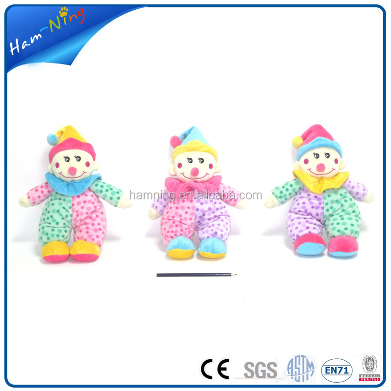 34cm plush baby toy baby clown doll sex toy baby rattle