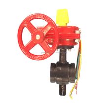 ul fm approved dn150 roll grooved fire fighting Butterfly Valve