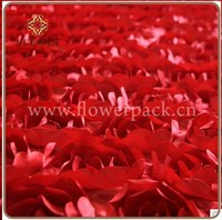 100% Polyester 3D Rose Embroidery Design Fabric for Lady Garment Polyester Embroidery Fabric