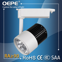 Online stores interior decoration CE+RoHS approval led diammable track light cob ra>90,100LM/W 25w track light led