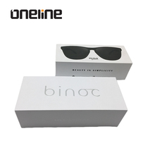 Wholesale Custom Printing white sunglasses paper box eyewear packaging box