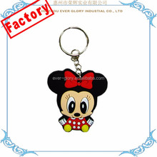 Cheap Rubber PVC Keychain Factory Custom Made Rubber Keyring
