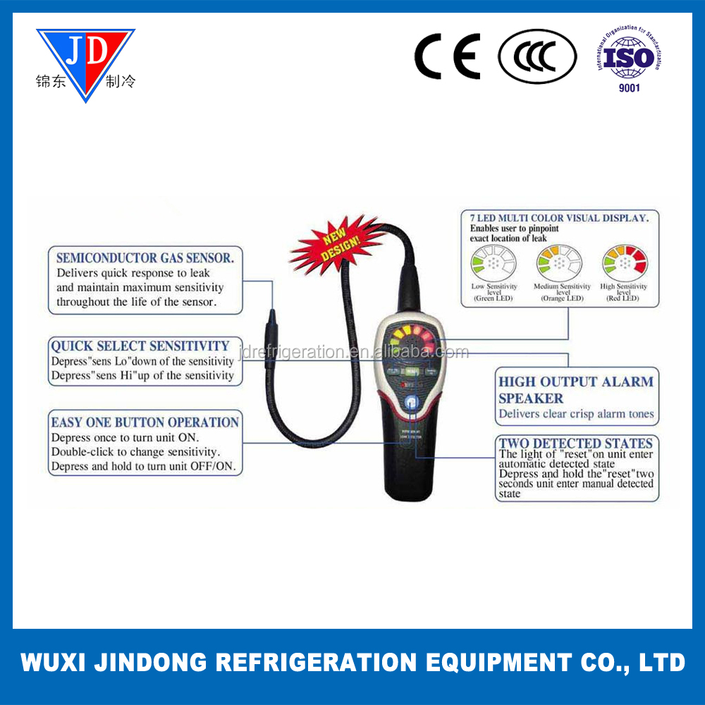 Refrigerant gas leak detector RLD-382P for air conditioning