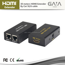 HDMI Extender Extension 30M 100ft 1080P HDMI to RJ45 Cat5e Cat6 Network HDTV Adapter