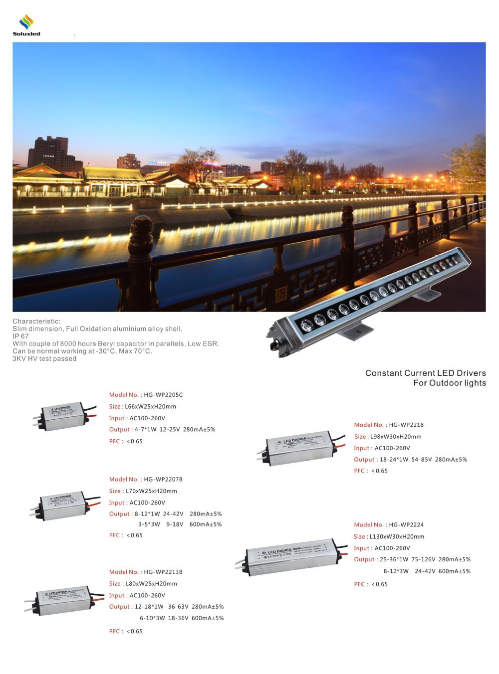 300mA waterproof LED constant current power Driver