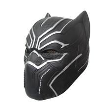 X-MERRY 2017 Custom NEW BLACK PANTHER Captain America Civil War Costume Cosplay Mask Helmet x10025