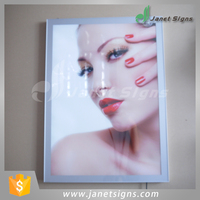 High quality Aluminum frame magnetic slim led light box Lobby Advertising