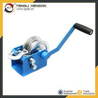 2500lbs small portable manual lifting hand winch for wood