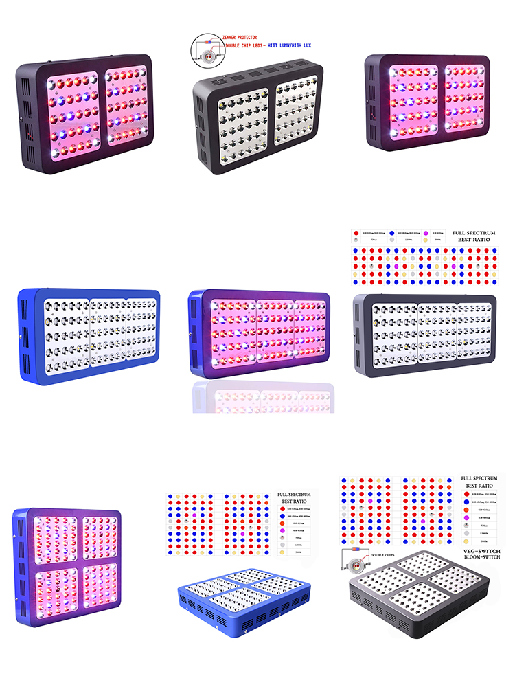 LED full spectrum hydroponic high power low consumption electroplated reflective farming grow light