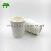 8oz custom printed paper coffee cups double wall paper cups