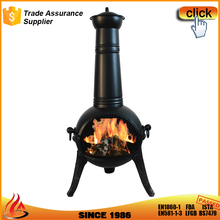 KINGJOY hot sale outdoor steel chimeneas with cast iron legs