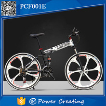 26'' folding mountai bike high carbon steel frame variable speed folding bicycle for adults