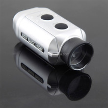 Silver Color Digital 7x golf laser rangefinder with cloth bag,Outdoor Mini Pocket1000Yards Golf Distance Measurement