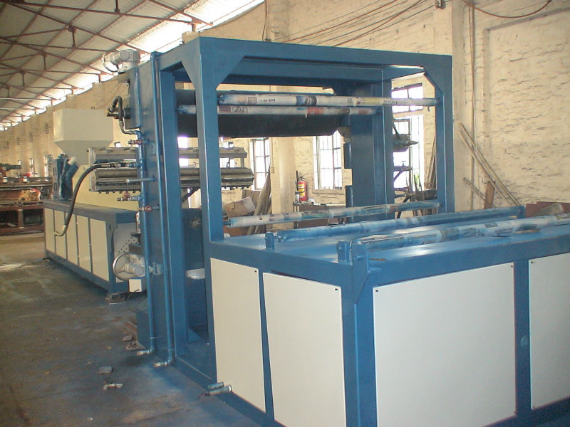 Machine to manufacture PCL sheet extrusion line for Radiotherapy Immobilization thermoplastic sheets