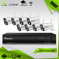 8 channel wireless cctv system built in nvr ip67 wireless video ip camera security system