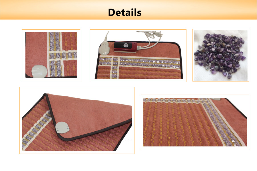 FDA Approved PEMF Therapy Mat Amethyst Heating Mattress
