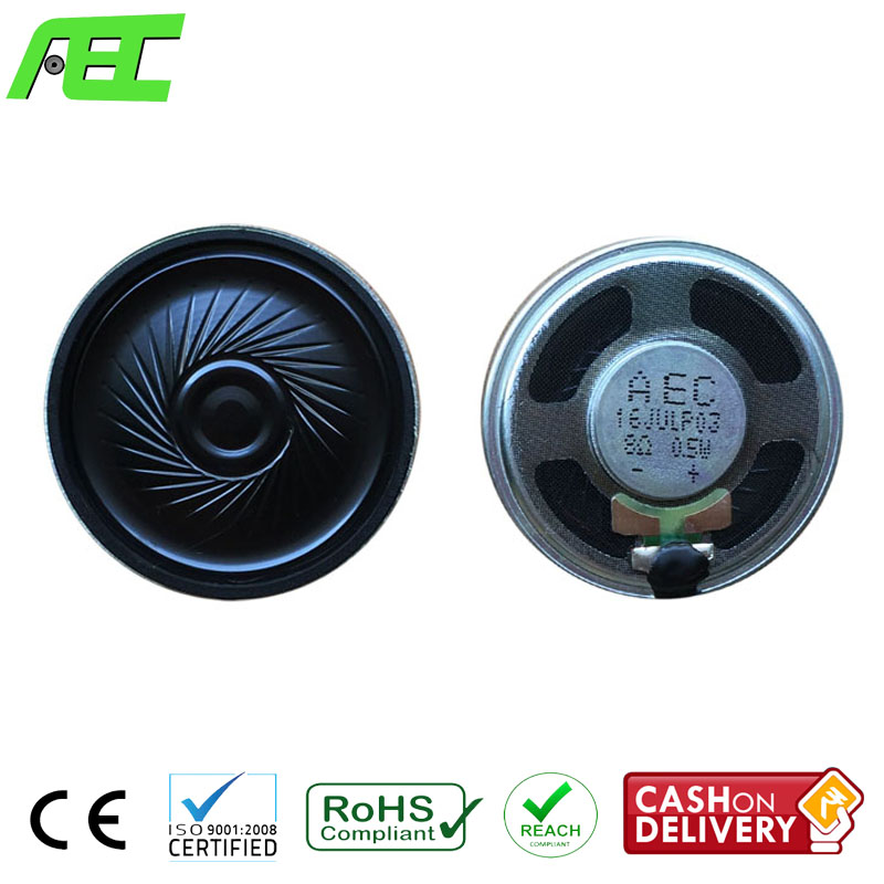 wholesale 40mm mylar loudspeaker 8ohm 0.5w mini speaker driver for headphone