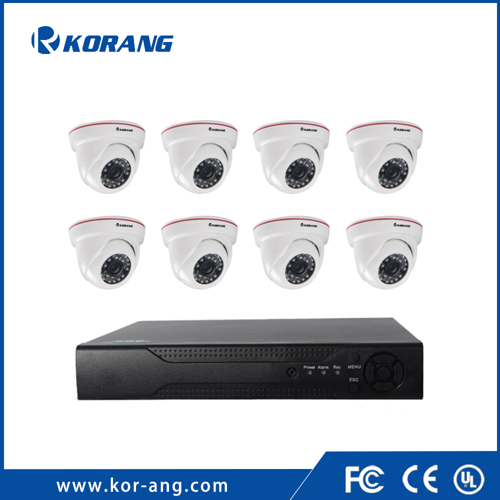 8 Channel 1080P Remote Surveillance Onvif Home P2P AHD DVR Kit H.264 CCTV Security Dome Camera System