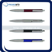 automobile metal pen metal ball pen smooth finish metal ballpen with brass clip