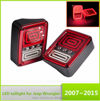 07-15 US for Jeep Wrangler JK LED Brake Tail Lights Rear Signal Reverse Lamps for jeep wrangler